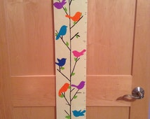 Bird Silhouette Hand-painted Growth Chart