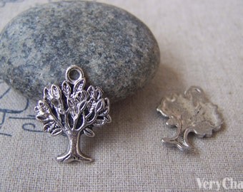 20 pcs of Antique Silver Peace Tree Charms 16x20mm A1020