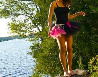 Black & Pink Adult Tutu - Rave