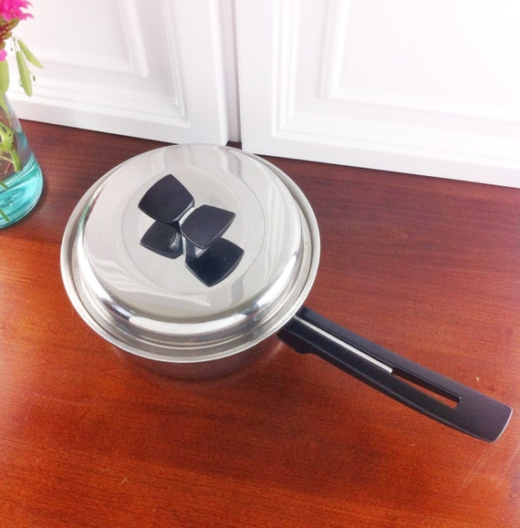 Vintage Thermo Core Heavy Stainless Steel 3 Quart Saucepan