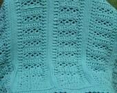 Large  Adult Sized Soft Sage Blanket-crochet