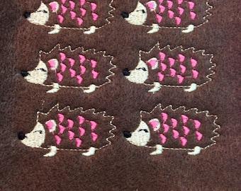 Embroidery Design HedgeHog Love Feltie set 4in hoop