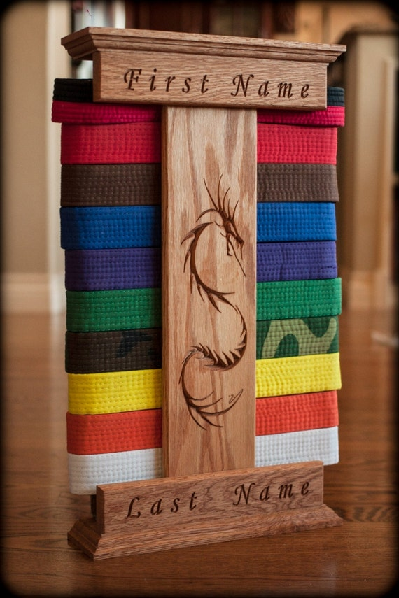 Personalized Karate Belt Display Dragon by MadeUSAStore on ...