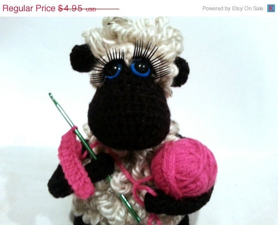 PATTERN- Crochet Sheep Soft Sculpture, Amigurumi Plushie, Stuffed Animal Lamb