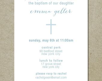 modern baptism invitation