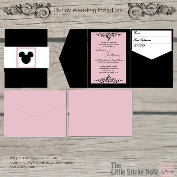 Disney Wedding Invitations: Disney Wedding Invitation