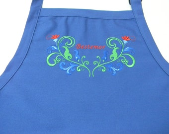 Embroidered Scandinavian Norwegian Grandmother Bestemor Apron #859