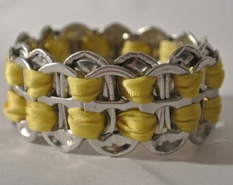 Ring Pull bracelet - Yellow ribbon - Complete tie