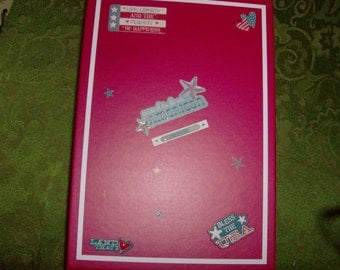 American themed heavy duty red  3D Treasure/Memory Box