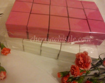 30  Wedding Favor Boxes, favours, favor boxes, modern favour boxes, raspberry pink and white