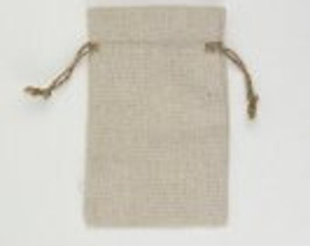 3 x 4 Linen Favor Bags with Jute Drawstring (12 pack)