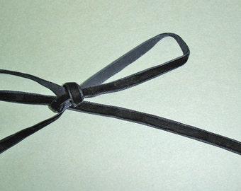 """10mm (3/8"""") velvet ribbon trim - black 10yd"""
