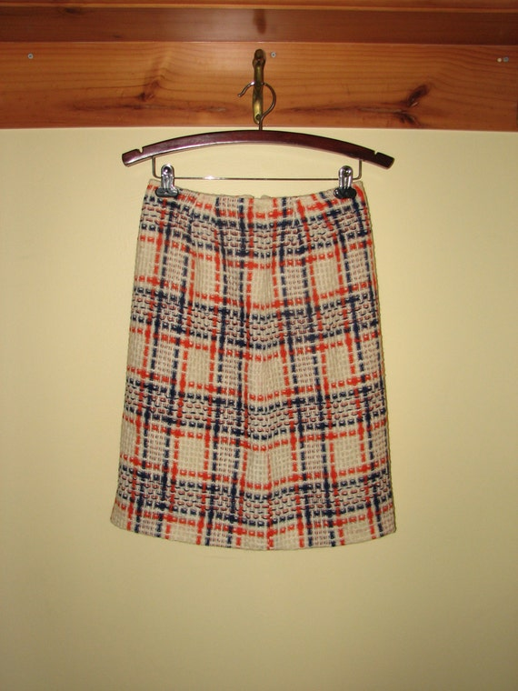 items similar to vintage 1960s skirt by hadley chechered