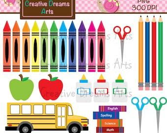 School fun digital clip art instant download