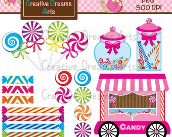 40% Off! Candy Digital Clip Art Instant Download