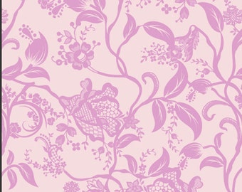 Pink Floral Fabric - Dreaming in French Pink Coquette by Pat Bravo for Art Gallery Fabrics DIF 804 Pink - Priced by the 1/2 yard