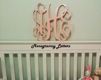 "Extra Large (24"") Wooden Monogram-Ready to Paint-Monogram your Home- UNPAINTED"
