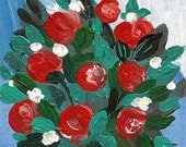 Red Roses - ACEO ORIGINAL -still life - original artwork acrylic painting- not print
