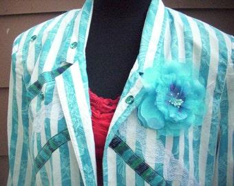 Upcycled Blazer, Blue Jacket, Blazer, Vintage Blazer, Jacket, Womens Blazer, Dressy Jacket, Dressy Blazer