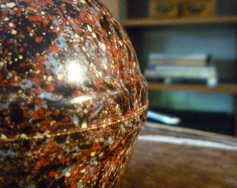 Vintage Chocolate Easter Egg Mould / Coloured Speckled Bakelite