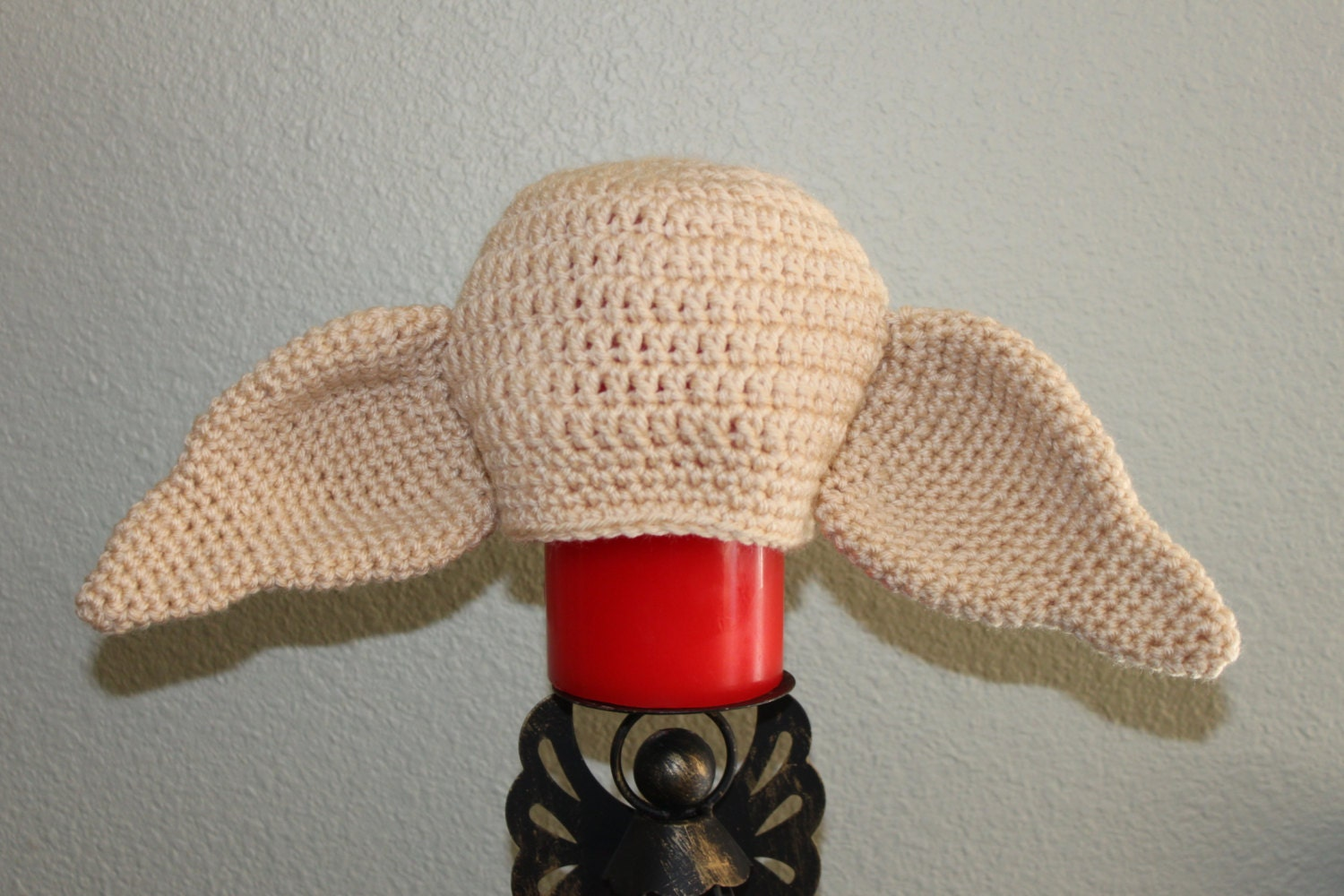 Knitting Pattern For Dobby The House Elf : Crochet Dobby the house elf hat. Harry Potter character hat.