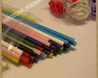 "50pcs 6"" x 5/32"" Plastic  Lollipop Sticks for Cake Pops - Mixed Color"