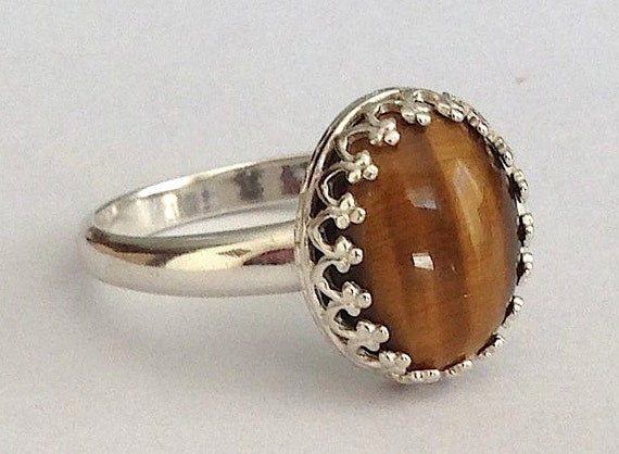 tiger s eye sterling silver ring by angelinequinnjewelry