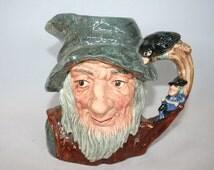 Rare Royal Doulton CharacterJug - 'Rip Van Winkle' D6438 /MEMsArtShop.