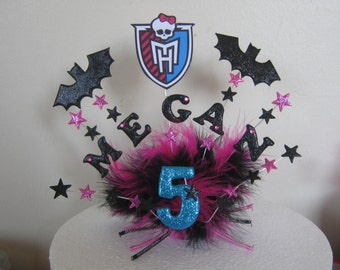 Monster high large cake topper made with  your choice of name and age. Lots of characters and colours to choose from