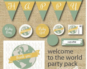 Welcome to the World Baby Shower Party Pack