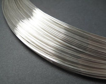 Sterling Silver wire, Ag999, 0.4mm, 26 gauge [10m]