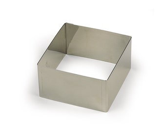 SQUARE Ring Mold 4-3/4 inches - Stainless Steel - Stacking Food Mold