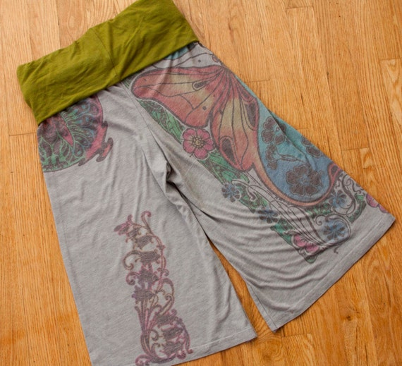 Recycled T Shirt Fabric Yoga Pants By ProjectEcesis On Etsy