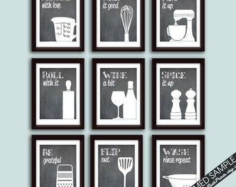 Funny Kitchen Art Print Set (Set Of   9 Art Prints) (Featured On