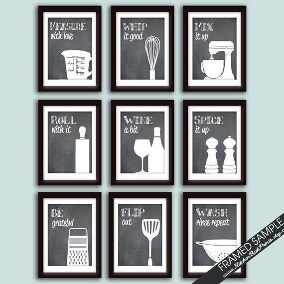 Funny Kitchen Art Print Set Set Of Art Prints Featured