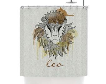 Shower Curtain - Zodiac Signs - Leo, Virgo & Libra Art Shower Curtain by Belinda Gillies
