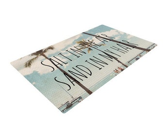 "Nastasia Cook ""Salt in the Air"" Beach Trees Woven Area Rug KESS INHOUSE"