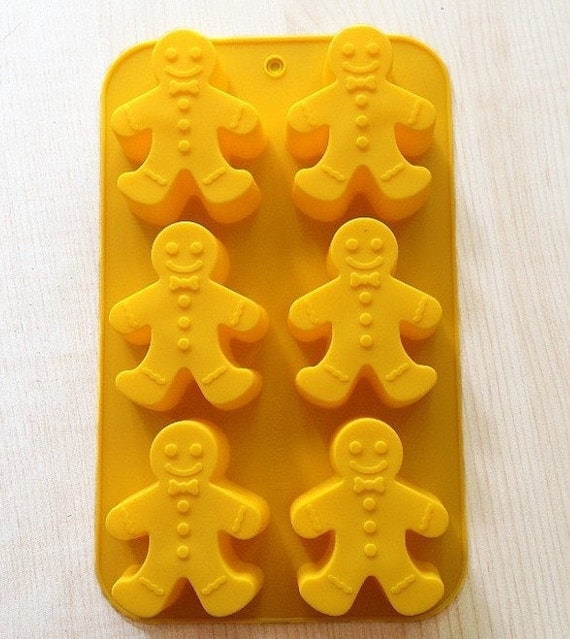 Cake Art Candy Molds : Items similar to The Gingerbread Man Cake Mold Soap molds ...