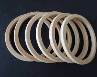 8Pcs  Unfinished Natural Wood Bangle Wood ring  65mm for your handmade ( W423)