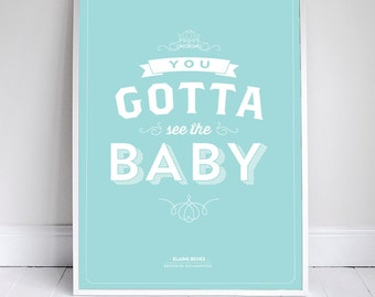 You Gotta See the Baby - Seinfeld Poster - Royal Baby - 11 x 17 - Home Decor