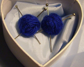 Earrings - yarn