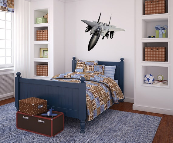 F15 eagle air force wall vinyl decal gulf war attack fighter for Decor 6 air force