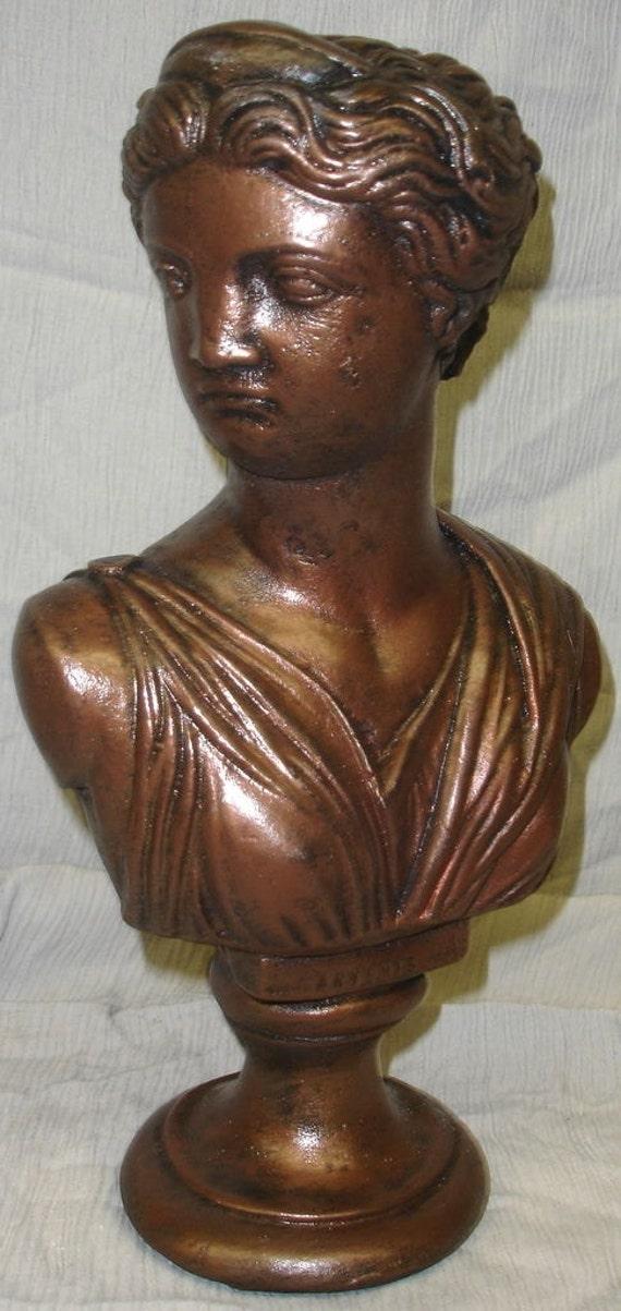 Greek bust of artemis art statue sculpture home decor for Artemis decoration