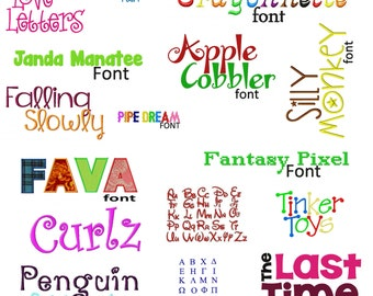 Special Buy 50 Of My Best Machine Embroidery Font Sets for the Crazy Low Price of 9.99 in BX