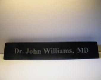 Office Nameplate/Large Desk Name Plaque/  Desk Nameplate/ Granite Name Plaque/Employee Nameplate