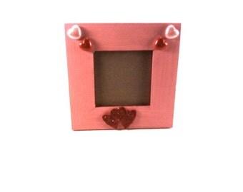 Pink Heart 5 x 5 Standing Frame