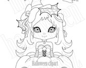 Halloween Clipart · Digital Stamp · Original Illustration ·