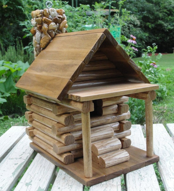 rustic log cabin birdhouses - photo #11