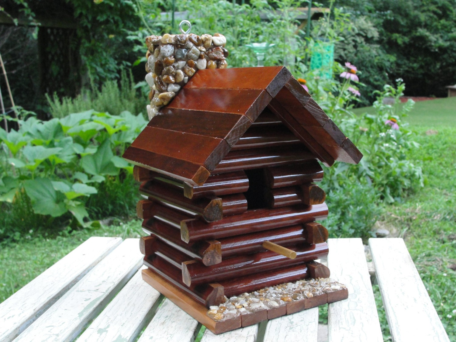 rustic log cabin birdhouses - photo #12