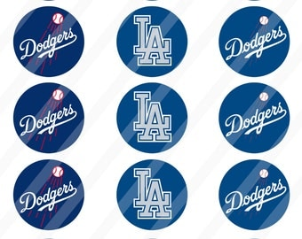 Los Angeles Dodgers Digital Collage Sheet Size 8 5x11 For